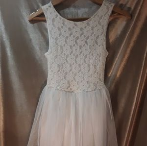 Wet Seal S White Dress With Tulle